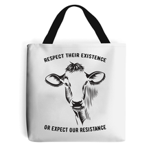 Load image into Gallery viewer, Respect Their Existence - Vegan Tote Bag, Vegan Gift-Vegan Apparel, Vegan Accessories, Vegan Gift, Vegan Tote Bag-Vegan Outfitters