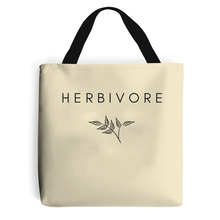 Load image into Gallery viewer, Herbivore Leaf - Vegan Tote Bag, Vegan Gift-Vegan Apparel, Vegan Accessories, Vegan Gift, Vegan Tote Bag-Vegan Outfitters