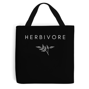 Herbivore Leaf - Vegan Tote Bag, Vegan Gift-Vegan Apparel, Vegan Accessories, Vegan Gift, Vegan Tote Bag-Vegan Outfitters