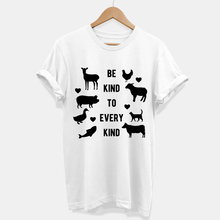 Load image into Gallery viewer, Be Kind To Every Kind - Vegan T-Shirt (Unisex)-Vegan Apparel, Vegan Clothing, Vegan T Shirt-Vegan Outfitters