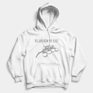 Head Tomatoes - Vegan Hoodie (Unisex)-Vegan Apparel, Vegan Clothing, Vegan Hoodie-Vegan Outfitters