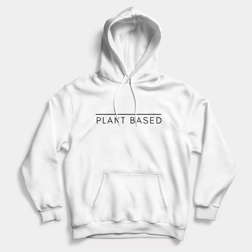Plant Based - Vegan Hoodie (Unisex)-Vegan Apparel, Vegan Clothing, Vegan Hoodie-Vegan Outfitters