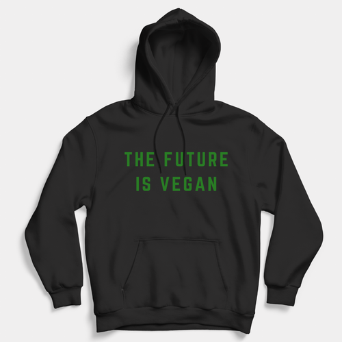 The Future Is Vegan - Vegan Hoodie (Unisex)-Vegan Apparel, Vegan Clothing, Vegan Hoodie-Vegan Outfitters-Vegan Outfitters