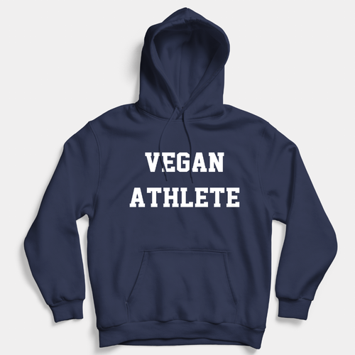 Vegan Athlete - Vegan Hoodie (Unisex)-Vegan Apparel, Vegan Clothing, Vegan Hoodie-Vegan Outfitters