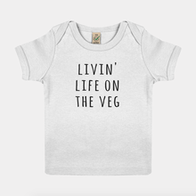 Load image into Gallery viewer, Livin Life On The Veg - Vegan Baby Shirt-Vegan Apparel, Vegan Clothing, Vegan Baby Shirt-Vegan Outfitters