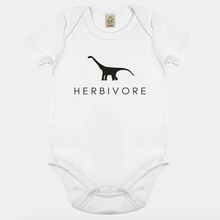 Load image into Gallery viewer, Herbivore Dinosaur - Vegan Baby Onesie-Vegan Apparel, Vegan Clothing, Vegan Baby Shirt-Vegan Outfitters
