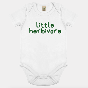 Little Herbivore - Vegan Baby Onesie-Vegan Apparel, Vegan Clothing, Vegan Baby Shirt-Vegan Outfitters