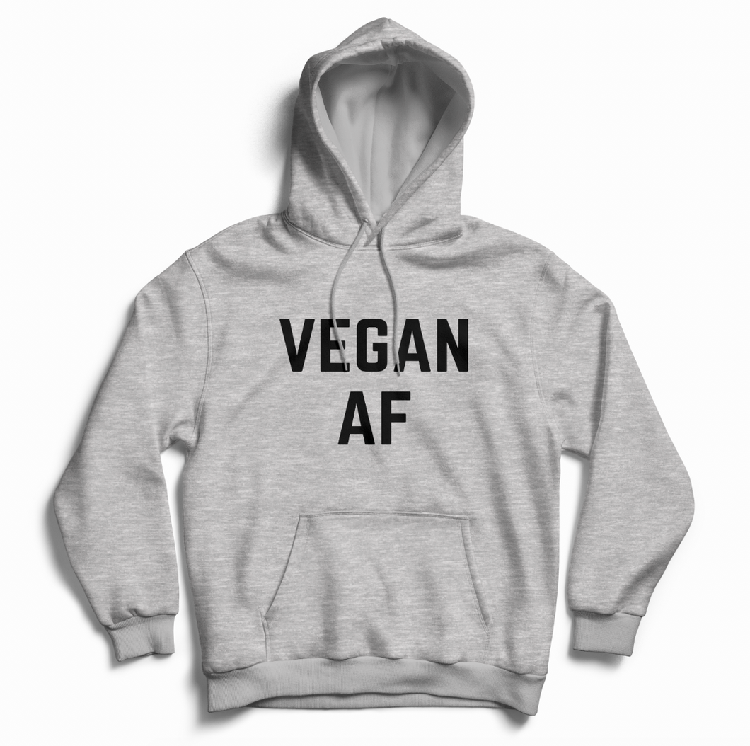 Vegan AF - Hoodie (Unisex) Gift Ideas-Vegan Apparel, Vegan Clothing, Vegan Hoodie-Vegan Outfitters