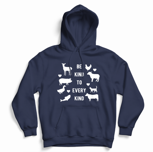 Be Kind To Every Kind - Hoodie (Unisex) Gift Ideas-Vegan Apparel, Vegan Clothing, Vegan Hoodie-Vegan Outfitters-Vegan Outfitters