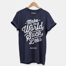 Load image into Gallery viewer, Make The World Suck Less - Vegan T-Shirt (Unisex)-Vegan Apparel, Vegan Clothing, Vegan T Shirt-Vegan Outfitters