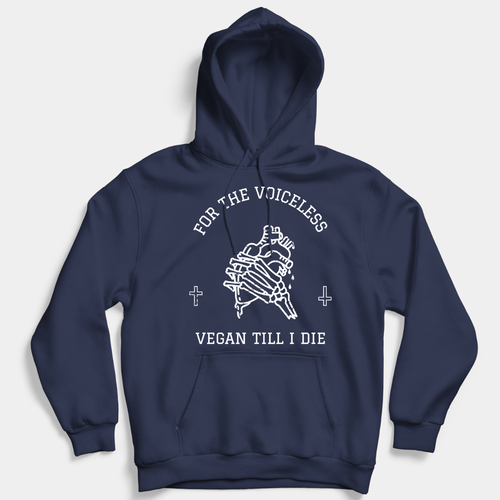 For The Voiceless - Vegan Hoodie (Unisex)-Vegan Apparel, Vegan Clothing, Vegan Hoodie-Vegan Outfitters