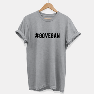 Go Vegan - Vegan T-Shirt (Unisex)-Vegan Apparel, Vegan Clothing, Vegan T Shirt-Vegan Outfitters
