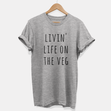 Load image into Gallery viewer, Livin Life On The Veg - Ethical Vegan T-Shirt (Unisex)