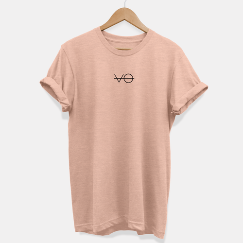 Dusty Peach VO Tee - Ethical Vegan T-Shirt (Unisex)