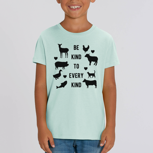 Be Kind To Every Kind - Vegan Kids Shirt
