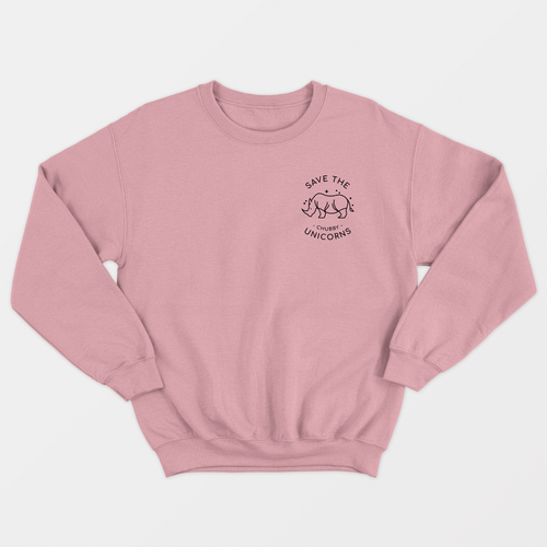 Save The Chubby Unicorns Corner - Ethical Vegan Sweatshirt (Unisex)