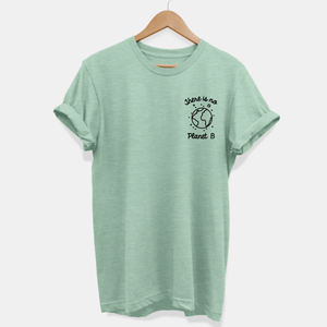 There Is No Planet B Corner Tee - Ethical Vegan T-Shirt (Unisex)