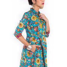 Flower love embroidered dress