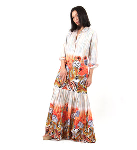 Safari print maxi dress