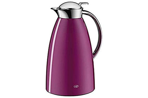 Alfi Vacuum Carafe Gusto, Thermal Carafe, Metal Painted, Screw Stopper, Cool Cassis / Purple, 1 Liter