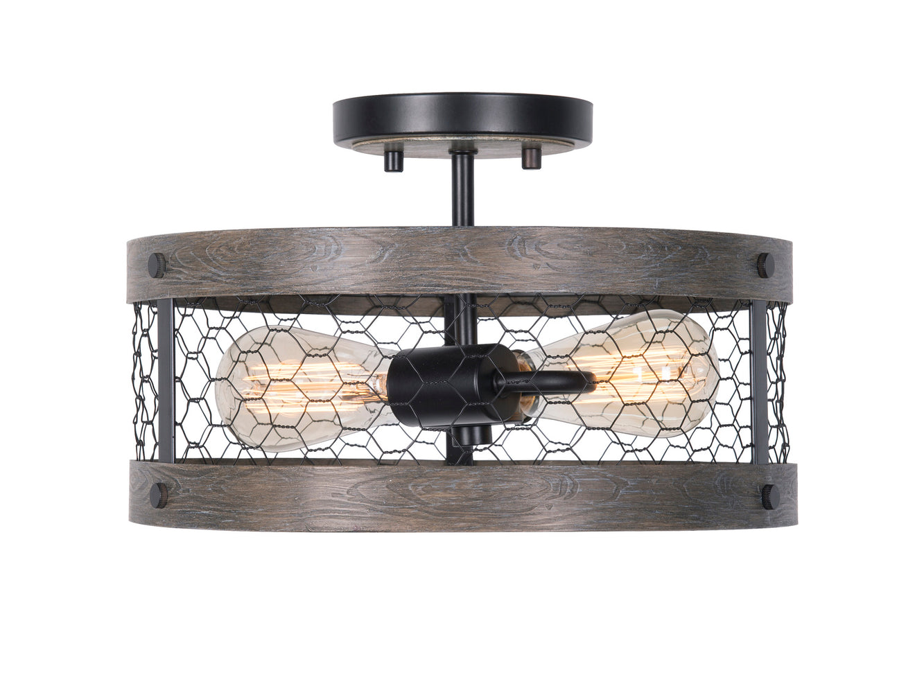 Cozy 2 Light Semi Flush Mount