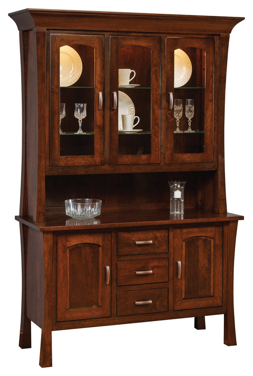 Woodbury Hutch and Buffet Customizable Amish Dining Room Furniture