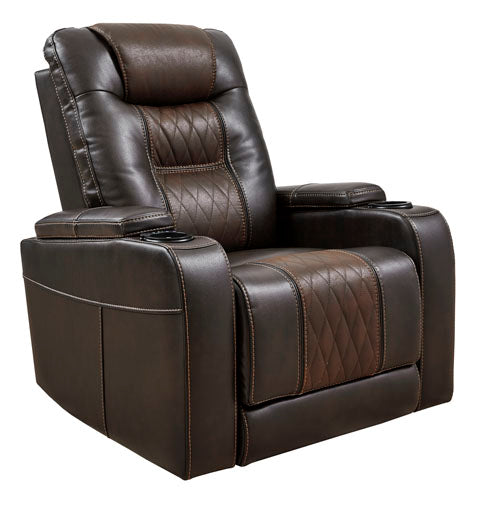 Easy View power adjustable headrest Recliner, Brown