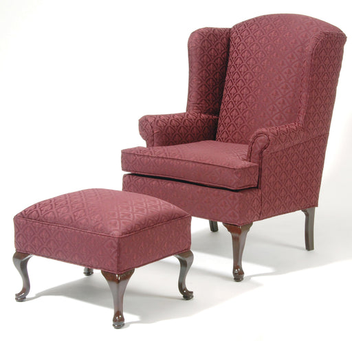 Queen Anne Wing Back Chair & Ottoman