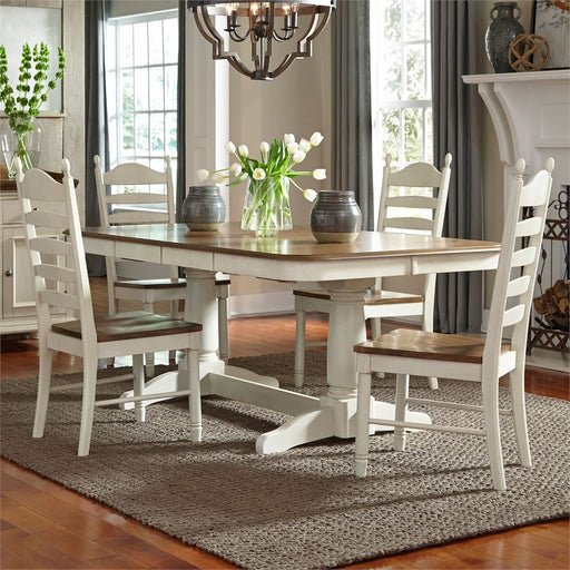 5 Piece Double Pedestal Table Set (278-Cd-52Ps)