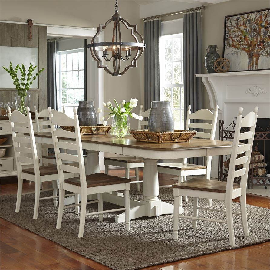 Springfield (278-CD) 7 Piece Double Pedestal Table Set