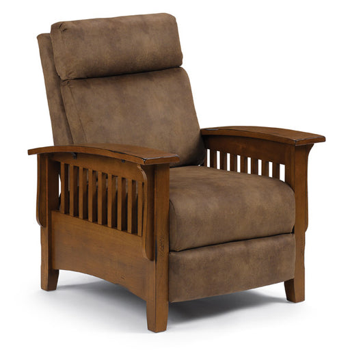 Tuscan Rustic Wood Arm Press Back Recliner (2L20)