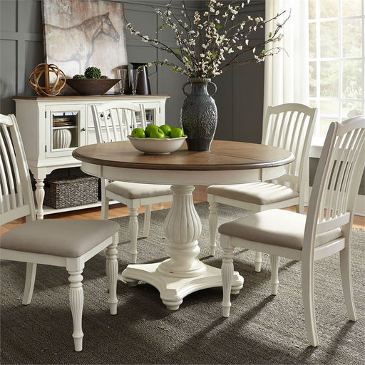 Cumberland Creek (334-CD) 5 Piece Pedestal Table Set