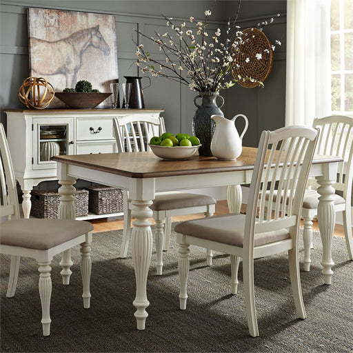 Cumberland Creek (334-CD) 5 Piece Rectangular Table Set