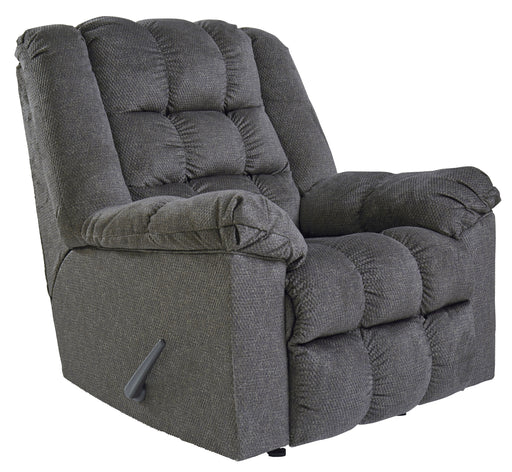 Rocker Recliner W/ Heat & Massage, Charcoal