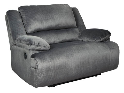 Zero Wall Wide Seat Recliner, Charcoal
