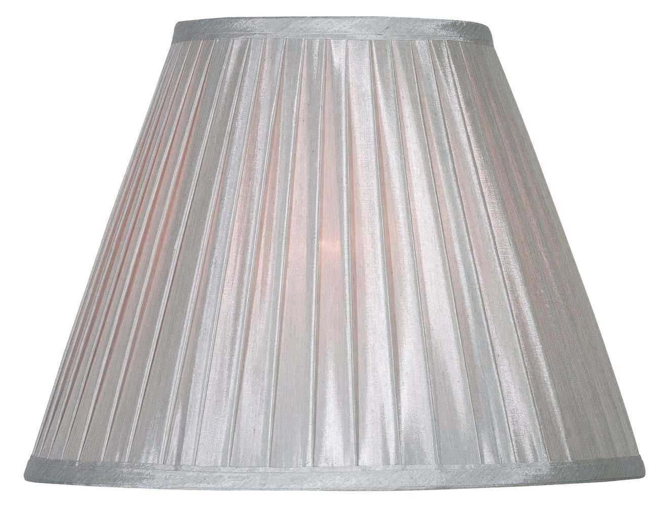 Silver Soft Pleat Shade