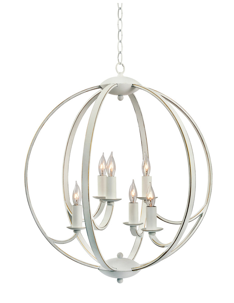 Opal 6 Light Chandelier