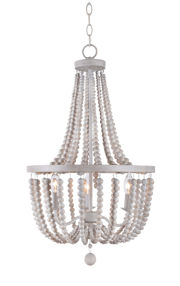 Dumas 3 Lt Wood Bead Chandelie