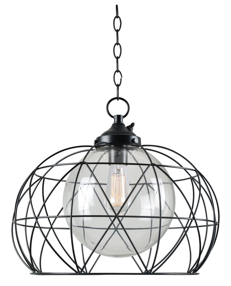 Cavea 1 Light Outdoor Pendant