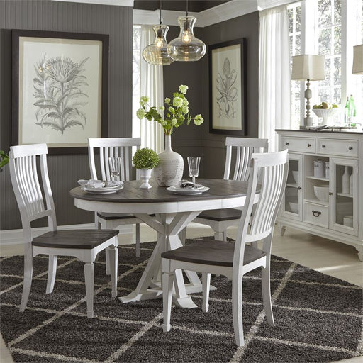 Allyson Park (417-DR) 5 Piece Pedestal Table Set
