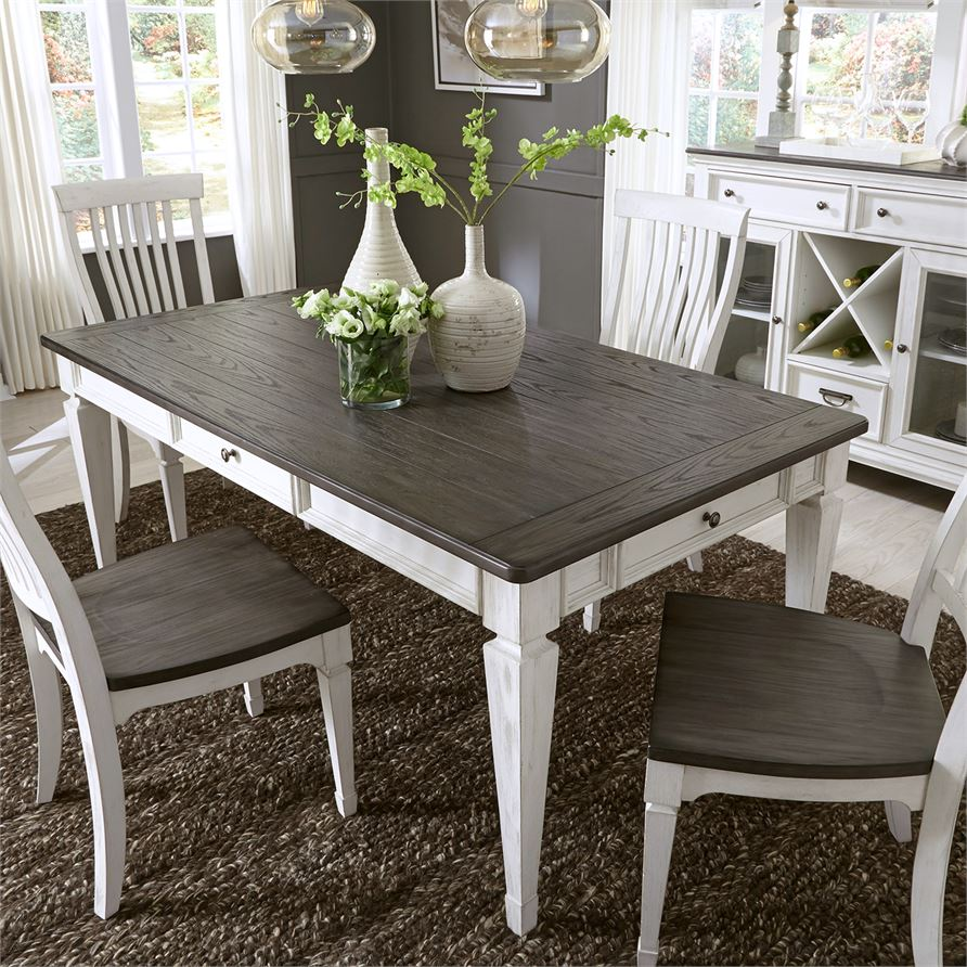 Allyson Park (417-DR) 5 Piece Rectangular Table Set