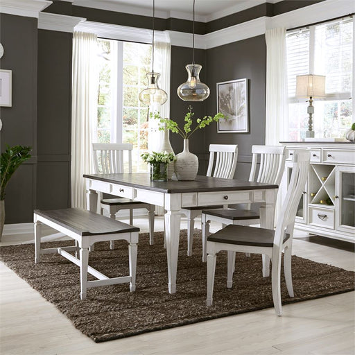 Allyson Park (417-DR) 6 Piece Rectangular Table Set