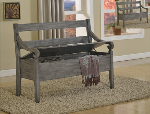 Grey Storage Bench