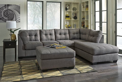 Chaise Sectional, Charcoal