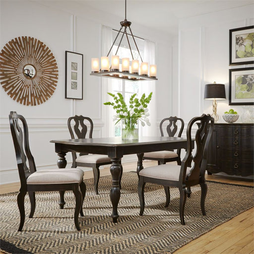 Chesapeake (493-DR) 5 Piece Rectangular Table Set