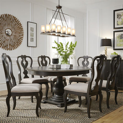 Chesapeake (493-DR) 7 Piece Pedestal Table Set