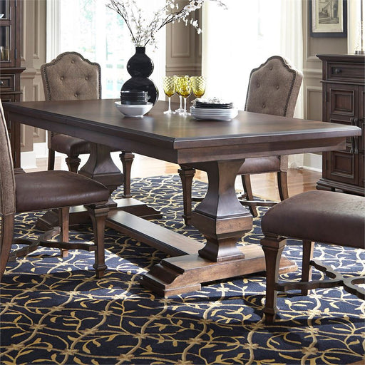 5 Piece Double Pedestal Table Set (535-Dr-52Ps)