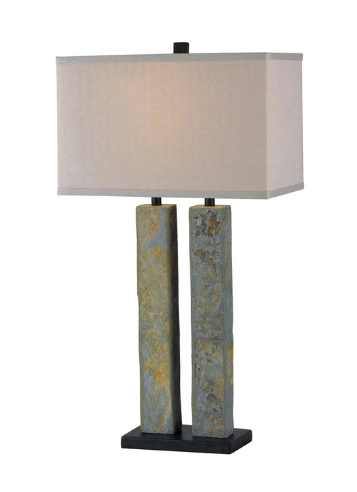 Barre Table Lamp - Green Slate