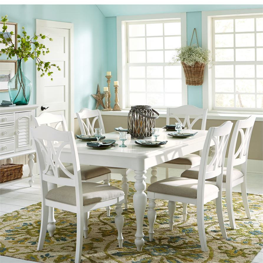 Summer House (607-CD) 7 Piece Rectangular Table Set