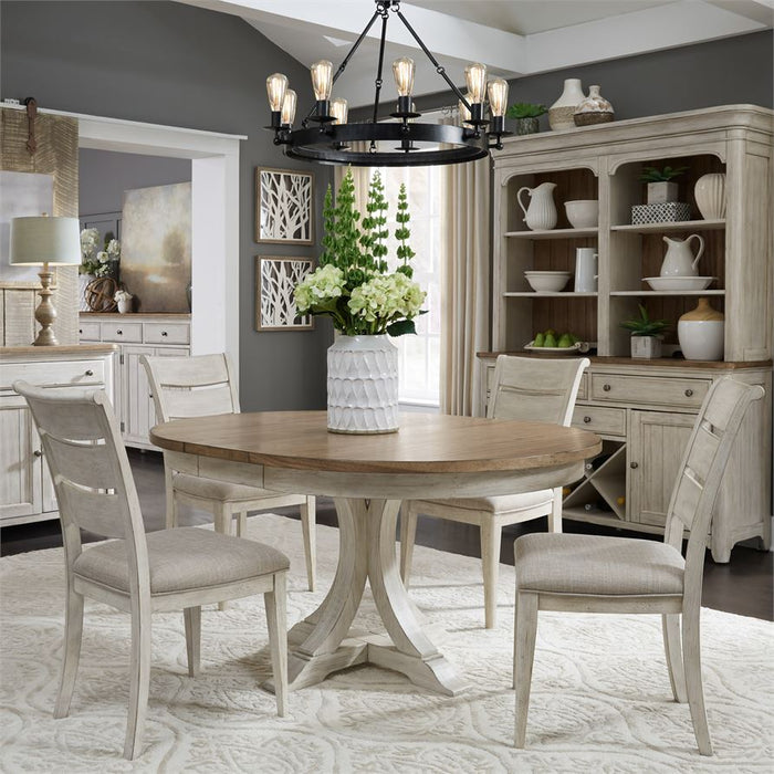 Opt 5 Piece Pedestal Table Set (652-Dr-O5Pds)
